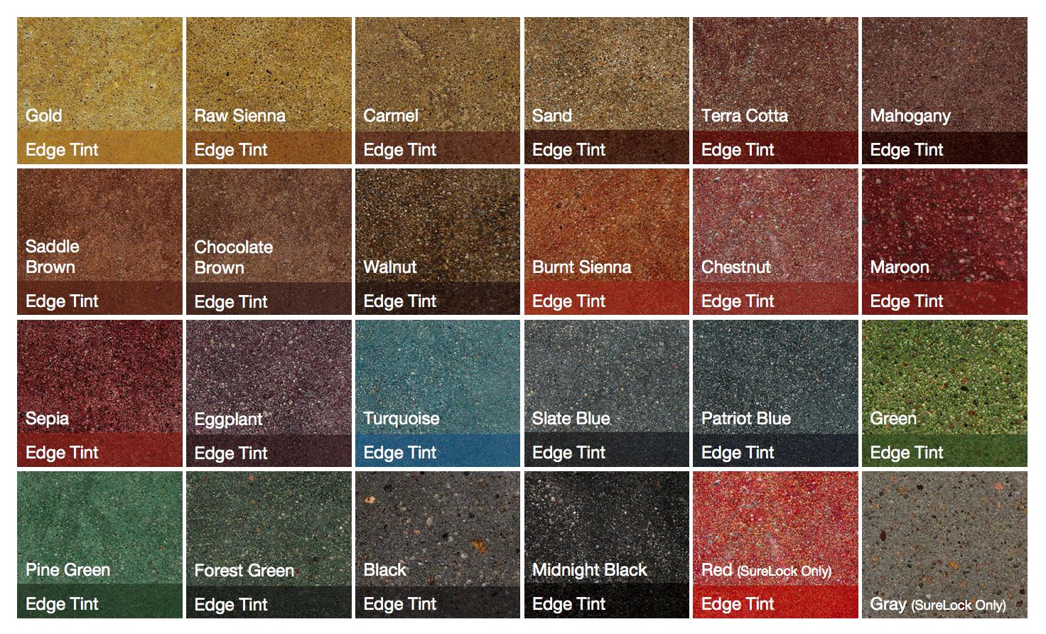 3g Concrete Solutions Polished Concrete Color Chart