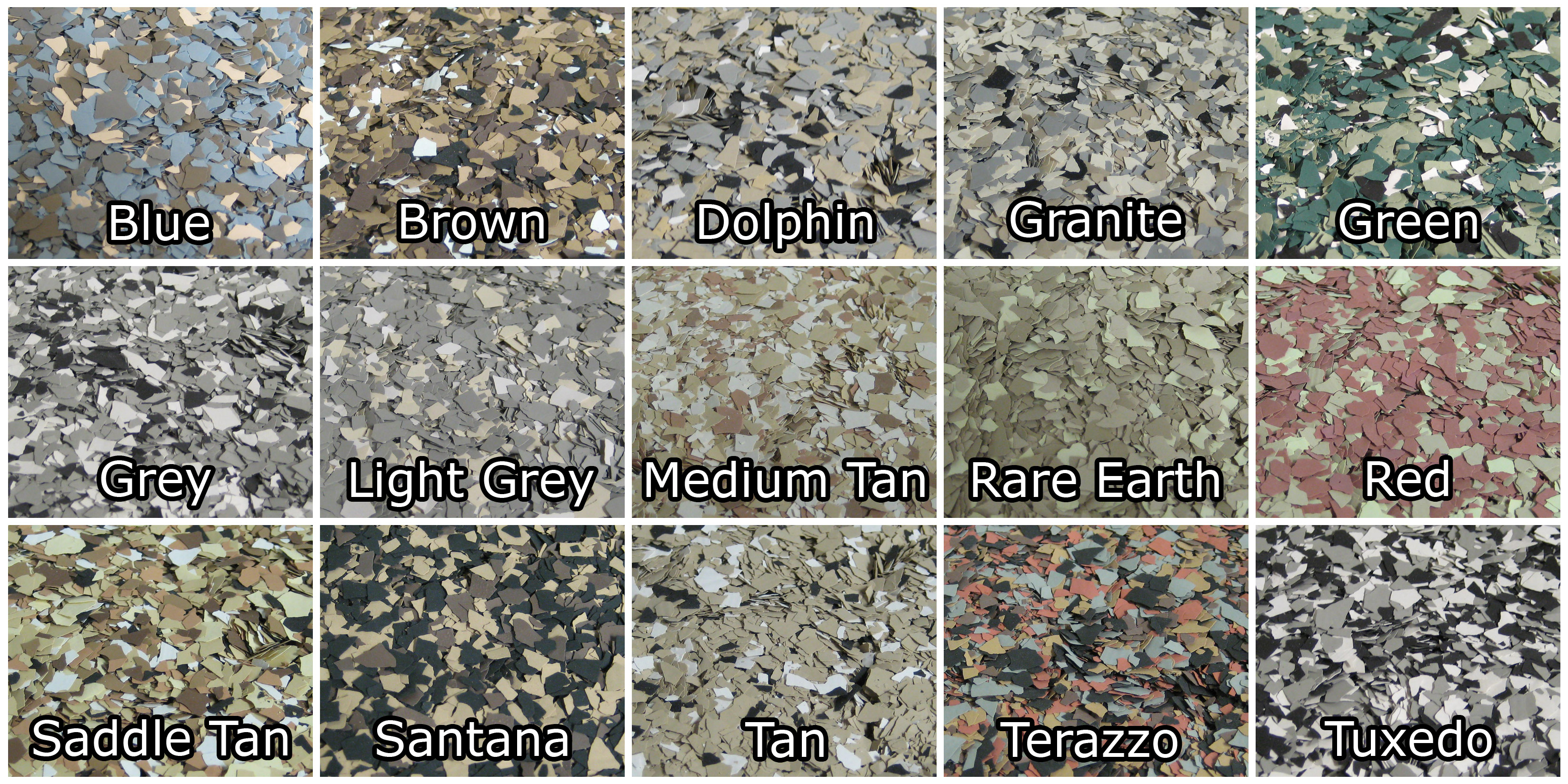 Flake Color Chart 3g Concrete Solutions